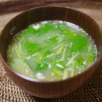 納豆と干しえのきのおみそ汁 ~発酵&太陽パワーで朝から元気~