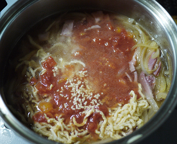 切り干し大根トマトスープ作り方3
