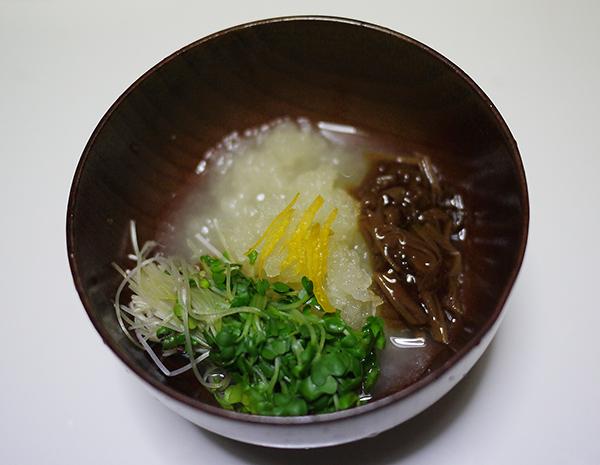 なめ茸と大根おろし汁 (2)