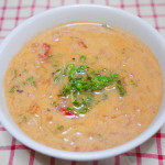 アンチエイジングやがん予防に<br/>トマト缶とブロッコリースプラウトの豆乳スープ