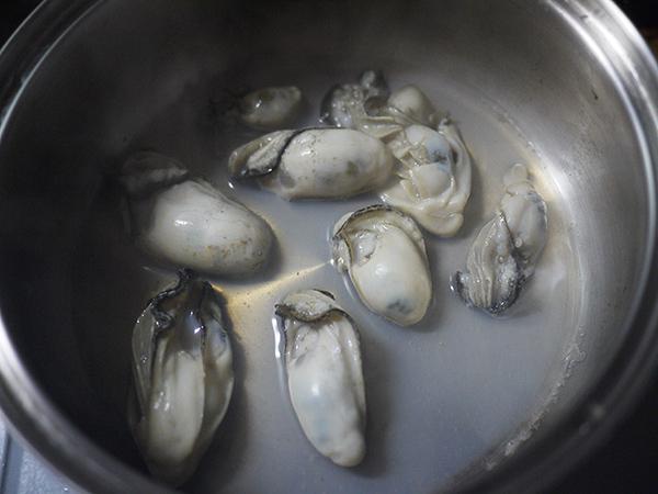 牡蠣の調理