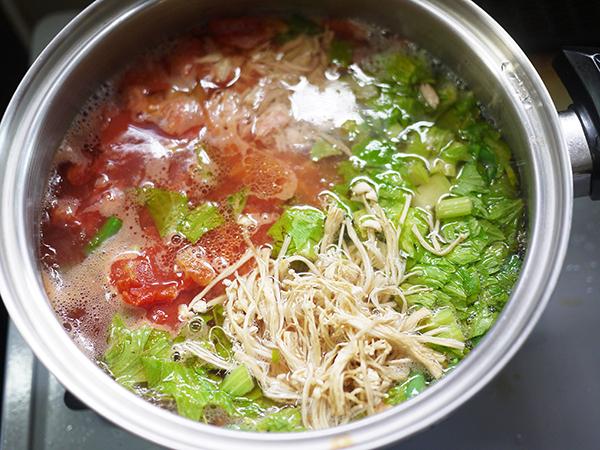 まごはやさしいトマトスープ作り方3