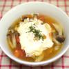 アンチエイジングと疲労回復に<br>トマトとしめじの卵入りスープ